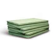 Пазогребневая плита KNAUF / КНАУФ влагостойкая (667 х 500 х 100 мм)Пазогребень<br>Специальную зеленую маркировку имеет KNAUF-гипсоплита гидрофобизированная (667Х500Х100 мм). От стандартного аналога она отличается повышенной устойчивостью к воздействию воды, что позволяет использовать ПГП в ванных комнатах, на кухне и других помещениях с параметрами влажности превосходящими 60%.Особенности применения и преимуществаГипсоплиты используются для возведения надежных, прочных и долговечных внутренних перегородок. Благодаря высоким эксплуатационным характеристикам пазогребень выступает великолеп<br>