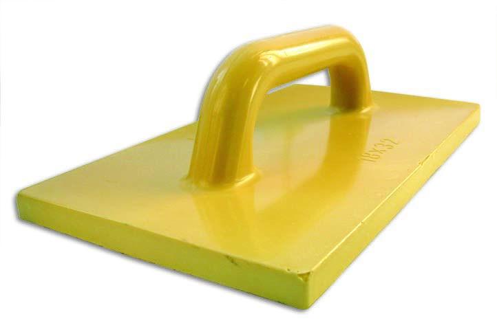 Терка полиуретановая (120x240мм)Правило, терки<br>Современная терка полиуретановая (120Х240 мм) представляет собой прямоугольную плоскую подошву (рабочая часть) с рукояткой имеющей удобное для захвата круглое сечение. Область применения ручного инструмента включает: затирание/заглаживание оштукатуренных поверхностей: стен, потолков, капитальных и межкомнатных перегородок, цементно-песчаного раствора при устройстве стяжки. Благодаря небольшой ширине, терка подходит для обработки сложных участков, например: внутренних угловых элементов, различных примыканий<br>