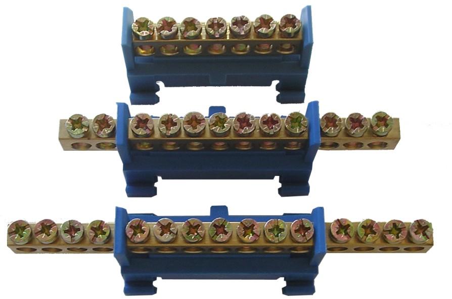 Шина нулевая с лапками 10 контактовКлеммники, ваги, шины<br><br>