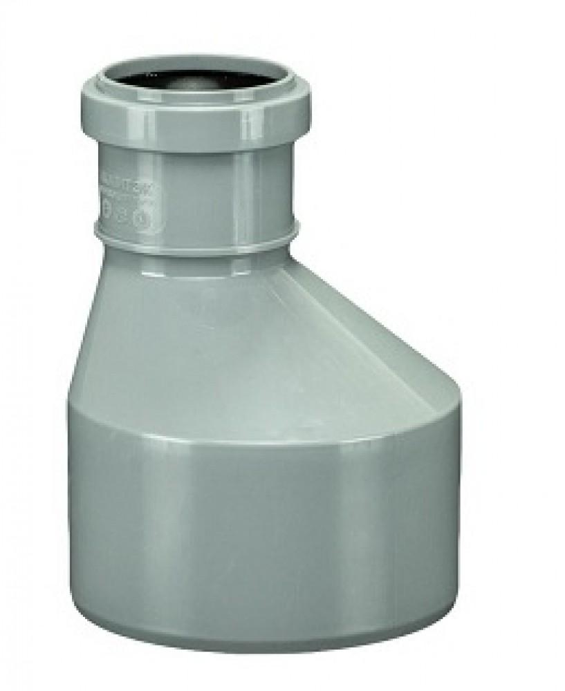 Переход внутренняя канализация эксцентрический Политэк длинный (110/50)Фитинг полипропиленовый канализационный<br><br>