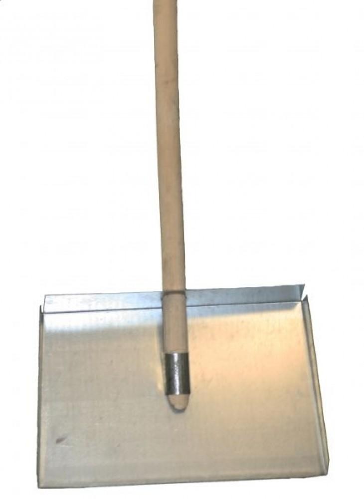 Лопата снеговая с оцинкованной планкой с черенком (440х315 мм / 1 шт)Лопаты<br><br>