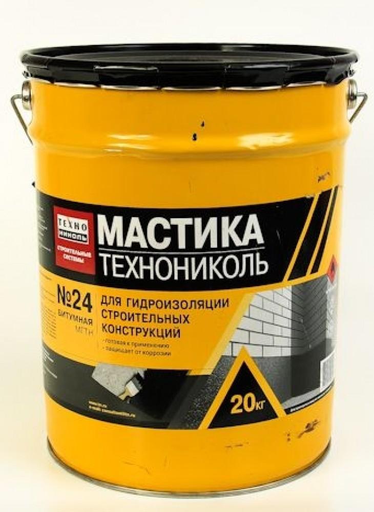 Мастика битумная Технониколь №24 (20 кг)Гидроизоляционные материалы<br><br>
