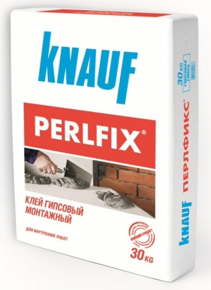 Клей KNAUF PERLFIX / КНАУФ ПЕРЛФИКС (30 кг)Клей для пеноблока<br>При любом ремонте сложно обойтись без такого популярного материала, как монтажный клей KNAUF PERLFIX. Это порошкообразная смесь, в составе которой содержатся полимерные компоненты. Используется клей Перлфикс при выравнивании стен листовыми материалами, такими как ГВЛ или ГКЛ. При этом нет необходимости в построении каркаса из профиля, поскольку листы гипсокартона просто приклеиваются к стене. Популярность такой технологии выравнивания стен объясняется следующими ее преимуществами:- Такой способ позволяет зн<br>